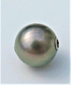 Tahiti Perlen Wechselschließe 14,5 mm Unikat Perlen Anhänger Kettenschließe 4801