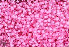 11/0 Inside-Color Crystal/Carnation-Lined TOHO Glass Seed Beads 15 grams #965