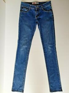 Vintage G-Star Raw Elwood 5620 Blue Jeans Size W26 L32 Au 8 Skinny Leg Low Rise