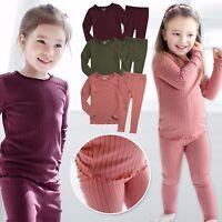 """Vaenait Baby Toddler Kids Girls Modal Clothes Sleepwear Set """"Shirring"""" 12M-7T"""