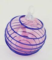 1996 Sonja Blomdahl Nordstrom Blown Art Glass Christmas Ornament Sphere Spiral