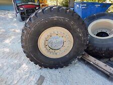 "NEW Michelin XZL 395/85R20 46"" tall tires on Aluminum wheels M35A2 M35A3"
