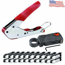 Deluxe Rotary Coax Coaxial Network Cable Stripper Cutter Tools Set RG58 RG6 RG59