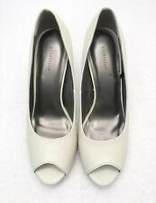 Womens Size 8 ATTENTION Ivory Peep Toe Loafer Classy Fashion Pumps Heels