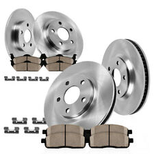 For 1998 1999 - 2002 Crown Victoria Town Car Front+Rear Rotors Ceramic Pads