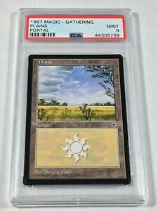 Graded Plains D PSA 9 MINT Portal 1997 MTG Magic Card Vintage Pop 4 (1 Higher)!