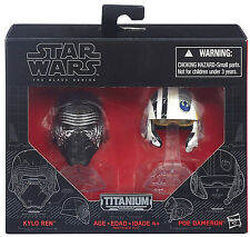 Star Wars Black Series Die-Cast Metal Helmets KYLO REN & POE DAMERON Set
