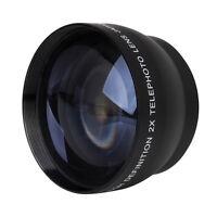 52mm 2X Magnification Telephoto Lens for Nikon AF-S 18-55mm 55-200mm Lens G4P1