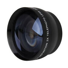 52mm 2X Magnification Telephoto Lens for Nikon AF-S 18-55mm 55-200mm Lens G4P1