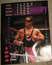 Bret Hart January 1994 Killer Kalendar PINUP POSTER WWE WWF WCW The Hitman