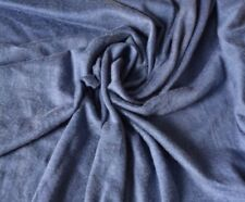 Subtly Shaded Weathered-Look Rayon Knit - Denim Blue
