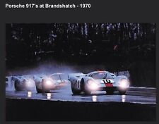 (2) Poster Set! eBay1st Porsche Gulf 917's at Brands Hatch 1970 Car PosterOwn It
