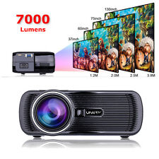Portable 1080P 7000 Lumens HD LED Multimedia Projector Home Cinema Theater USB