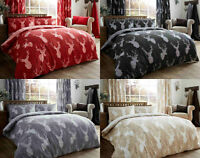Stags Pattern Luxurious Duvet Cover Sets Quilt Covers Reversible Bedding Sets GC