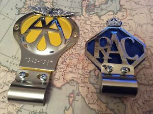 AA CAR BADGE SERIAL NUMBER AND BAR BADGE FITTING COLLECTABLE WITH RAC BADGE 1