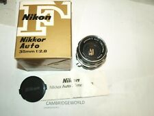 35mm F2.8 NIKON NIKKOR AUTO WIDE ANGLE LENS COLOR NUMBERS NEW OLD STOCK in BOX