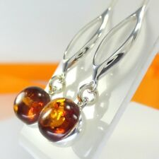 A188 Ohrringe Earrings 925 Sterling Silber Schmuck baltischer Bernstein Amber