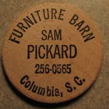 Vintage Furniture Barn Columbia, SC Wooden Nickel - Token South Carolina