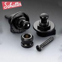 NEW Genuine Schaller Strap Lock System for Guitar & Bass GERMANY - BLACK CHROME