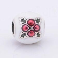 Perfect Gift Genuine Pandora Silver Xmas Pudding Charm 791412ENMX