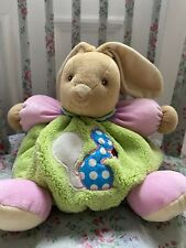 Kaloo Chubby Bunny Rabbit Green Pink  soft toy comforter Rattle Squirrel Detail
