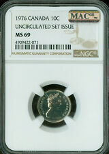 1976 CANADA 10 CENTS NGC MAC MS69 PQ FINEST GRADE SPOTLESS   ..