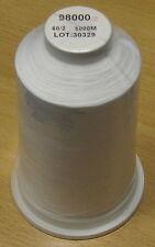 Maschinenstickgarn 0,14 €/m Unterfaden 5000m 60 weiß 60er Polyester