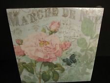 """Floral Design Plaque """"Marche de Nuit"""", 10"""", New"""