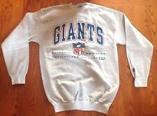 Logo Athletic Giants Bank Heavy Cotton Blend Oversized Sweatshirt Size M - Gray