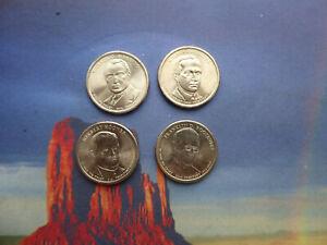 4 x Dollar Coins.  Presidents 29, 30, 31 & 32