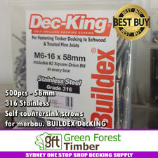 500pcs - 58mm 316 Stainless Self countersink screws for merbau. BUILDEX DecKING