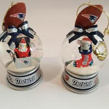 Danbury Mint New England Patriots Snow Globe Two Ornaments Mrs Claus Mouse Sock