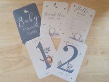 Baby Milestone Cards, 4x6 Photo Prop, 35 Cards, Jungle Animals