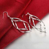 925 Silber lange Moderne Ohrringe Hängenden Tropfen für Damen top Qualität NEU.