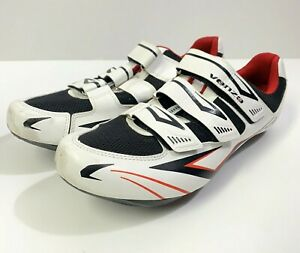 GENTLY USED VENZO MX White Men's Cycling Shoes Size M 10.5/ EUR 45