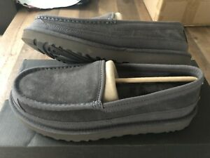 Mens UGG DEX Slippers Dark Grey Size 8 Uk New!!!