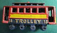 Vintage Cast Iron Trolly #14~Barn Find!