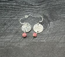Handcrafted Sterling Silver Rhodochrosite Earrings