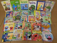 Lot of 10 Sesame Street Elmo Ernie Bird Book Picture/Board Child Kid Toddler Mix