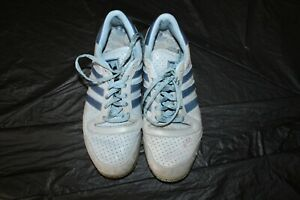 Vintage Adidas Somoa Baby Blue Tennis Shoes 7 1/2