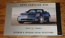 2004 Cadillac XLR Exterior & Interior Color Selections Brochure 04
