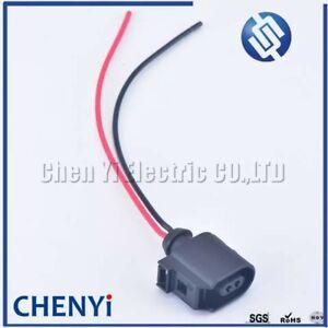 2 Pin Plug Connector Sealed Female For VW Audi Seat Skoda ABS Sensor 6E0973702