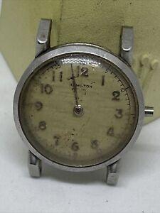 Hamilton 1950 Steeldon Stainless Steel Watch 18 Jewels Grade 748 Manual Wind