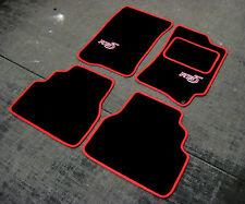 noir/rouge super velours Tapis de voiture - SUBARU IMPREZA classique (92-00) +