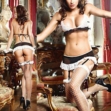One Size Sleepwear NightLingerie Babydoll Dress French MAID COSTUME Outfit New