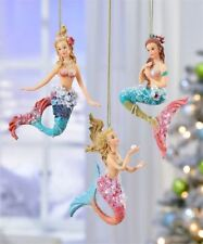 Miniature Fairy Garden Dollhouse Christmas Tree Mermaid Ornaments Set of 3 GC718