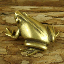 Solid Brass Frog Figurine Statue Mini Frog Decoration Ornament Animals Figurines