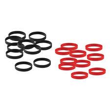 20pcs negro pulsera de goma de silicona rojo en blanco para hombres mujeres