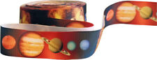 """Space Planets Ribbon 1"""" Wide For Cakes, Crafts, Gift Wrap, Etc. 2m"""