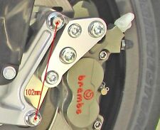 Caliper Adapter Bracket WR450F YZ450F Disc Rotor 320 Brembo 4P Caliper 40mm CSY1
